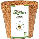 Grow Organiks Coir Biodegradable Planting Pots - 8 inch - 6 Pack