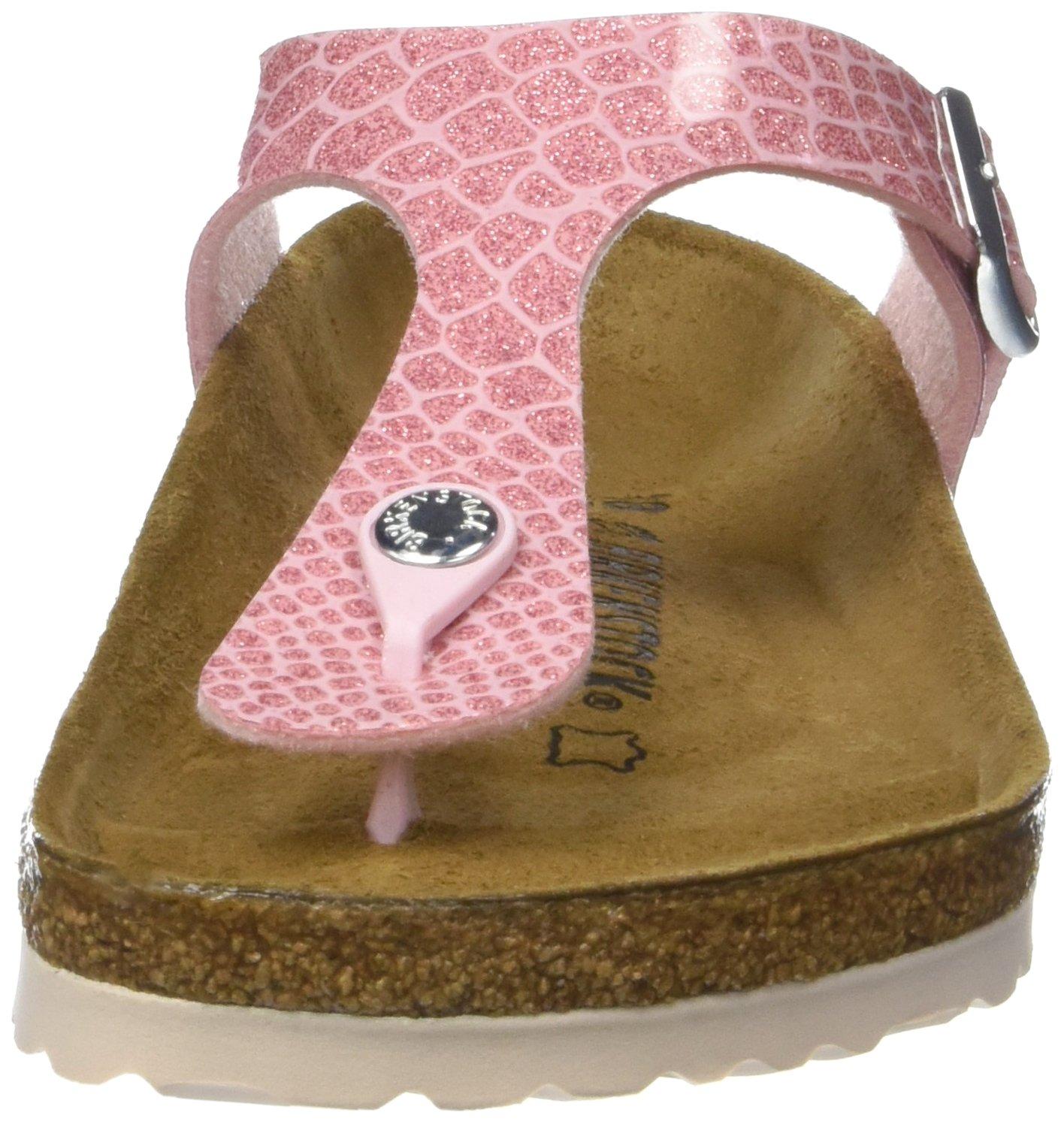 Birkenstock Gizeh Magic Snake Rose Birko-Flor Flat Sandals B0775XQHKW 7.5 M US Pink