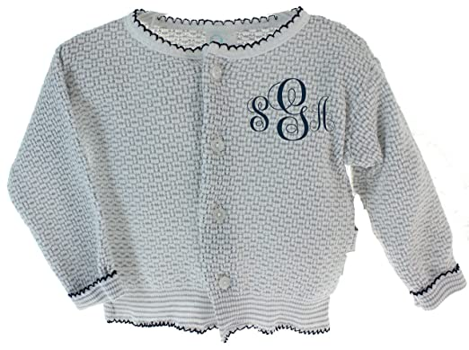 801a88985a9 Amazon.com  Infant Boys Girls Cardigan Sweater Grey   Navy Unisex ...