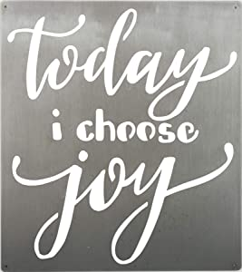 Primitives by Kathy Precision Cut Metal Wall Art, 10.5 x 11.75-inches, Today I Choose Joy