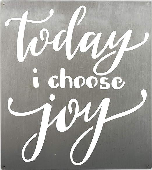 Amazon.com: Today I Choose Joy metal sign Cut Out letras ...