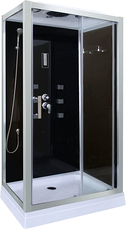 Cabina de ducha en negro DP-1401 (100 x 70 x 210 cm): Amazon.es: Bricolaje y herramientas