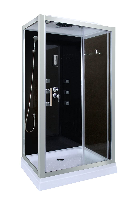 100 x 70 x 210 cm Cabina de ducha en negro DP-1401