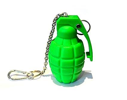 Amazon.com: Verde militar Grenade silicona llavero: Sports ...