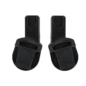 Mamas & Papas 279325301 Urbo/Sola/Zoom Aton/Maxi-Cosi/BeSafe Car Seat Adaptors - Black