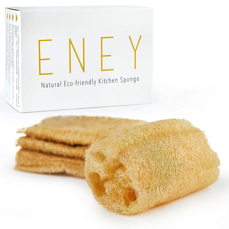 Loofah scrubbers as kitchen sponge alternatives