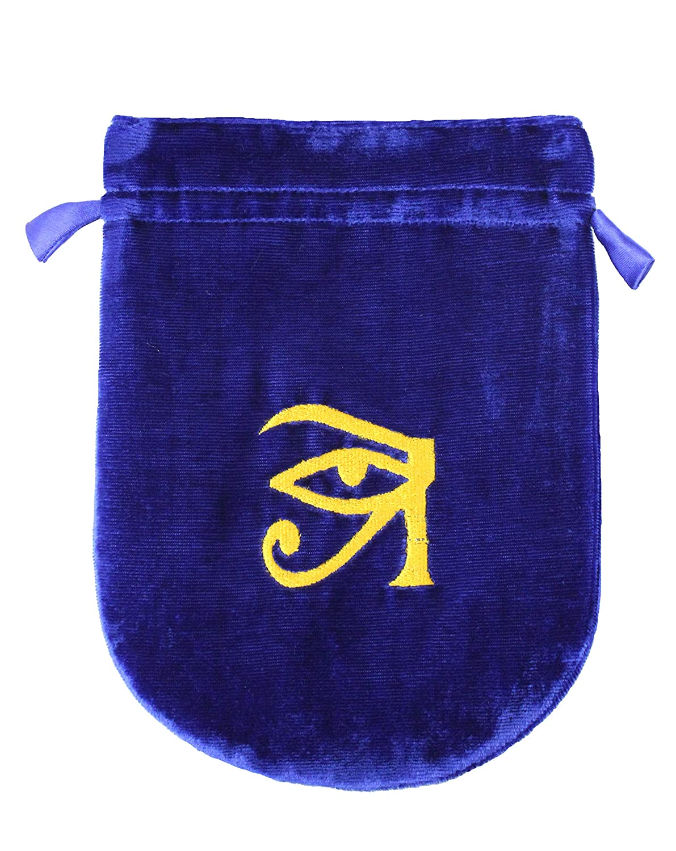 Blue Velvet Eye of Horus Tarot/Rune Bag