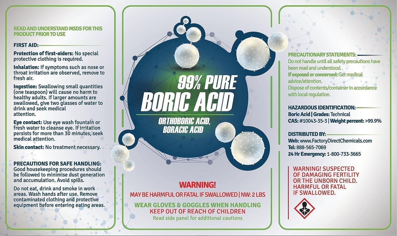Amazon.com : 99% PURE BORIC ACID AKA Orthoboric Acid, Boracic Acid ...