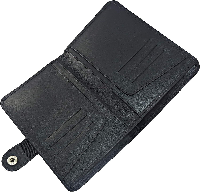 Oil Pullup Dark Brown Mens Functional RFID Blocking Leather Passport Holder Travel Bifold Wallet