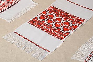 Toalla bordada en punto de cruz artesanal accesorio de casa diseno de interior: Amazon.es: Hogar