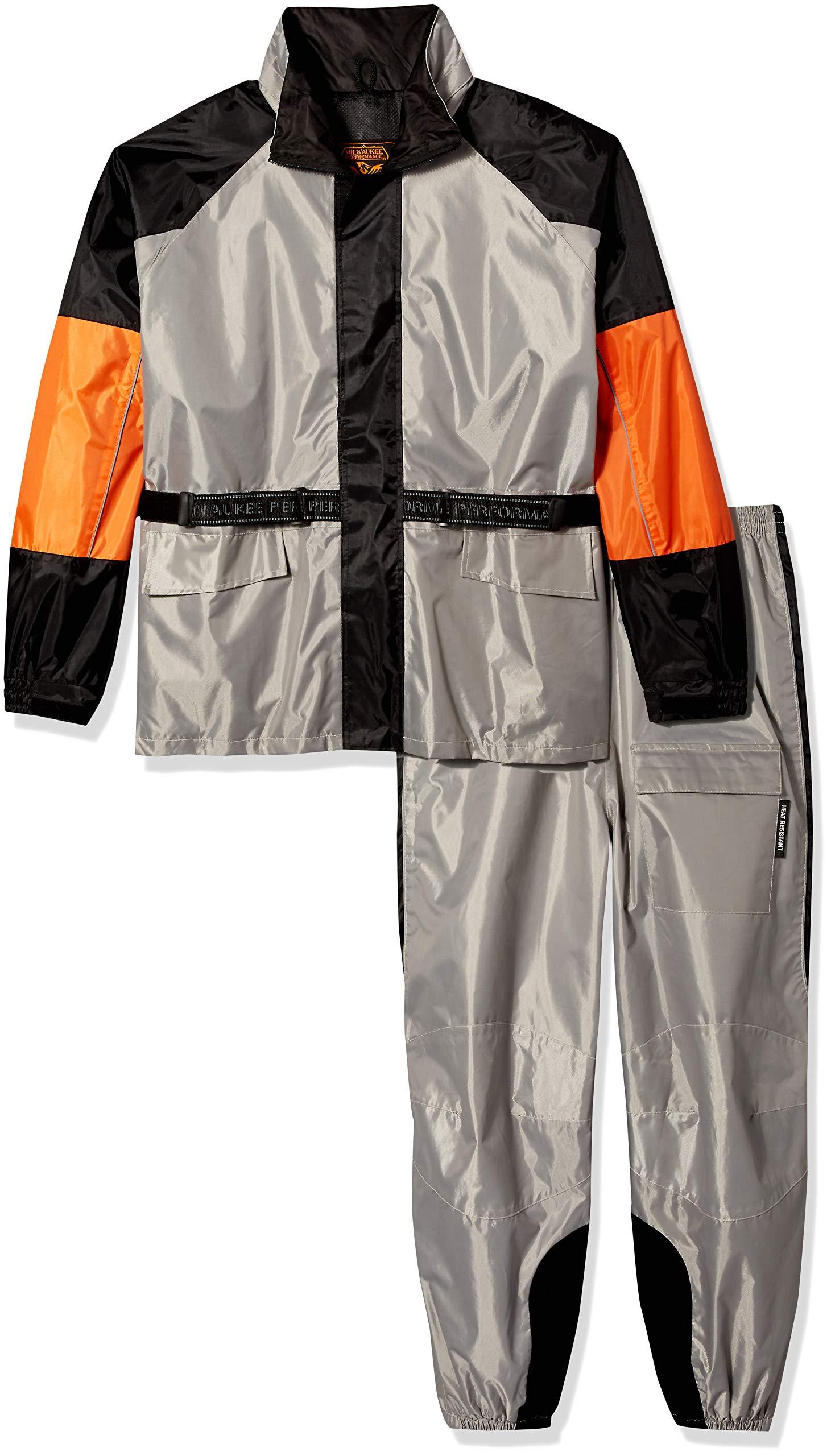 NexGen Men's Rain Suit (Black/Silver, XXX-Large)