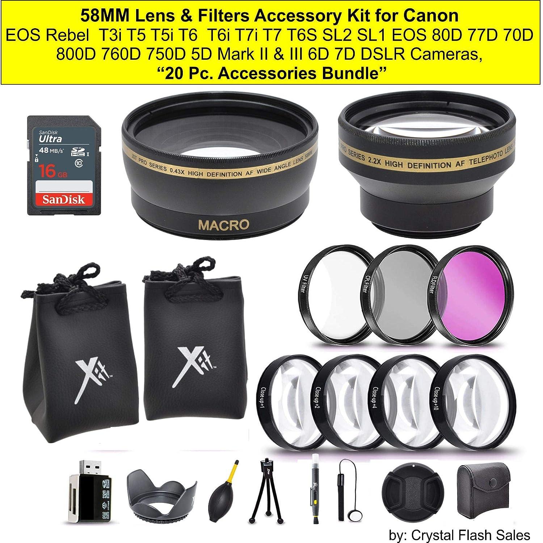 Kit de accesorios para lentes y filtros de 58 mm para cámaras ...