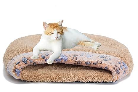MiLuck Cama de gato para mascotas Gato Saco de dormir Suave cálido a prueba de viento Impermeable Cama para mascotas Casa para perros Gato Gatito ...