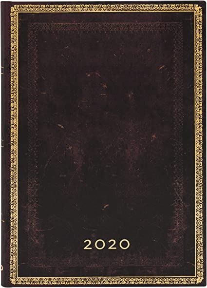 180 x 95 mm Blauer Rhein |Verso Paperblanks 12-Monatskalender 2020 Slim