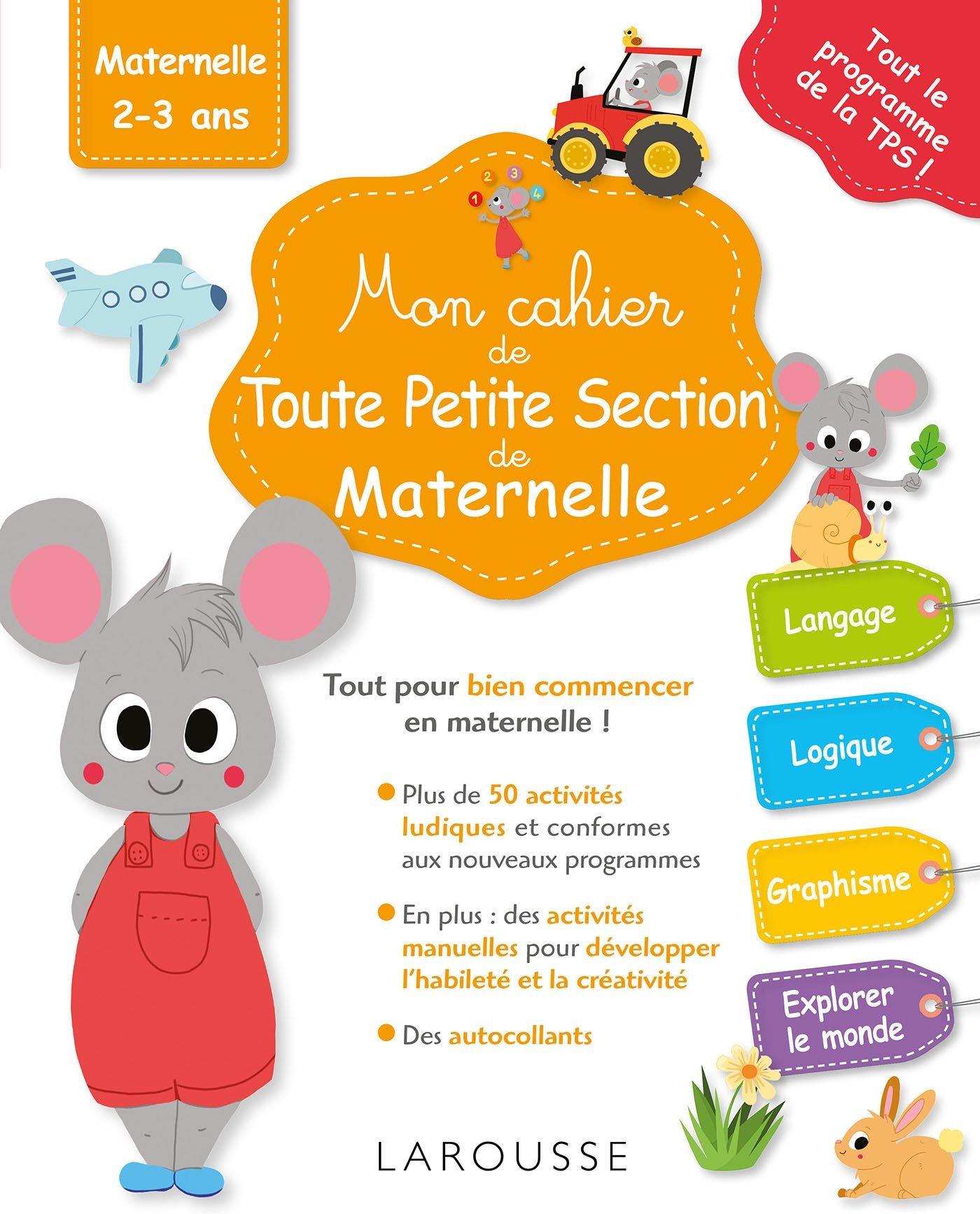 Amazon Fr Mon Cahier De Toute Petite Section De Maternelle Hasiak Lucille Livres