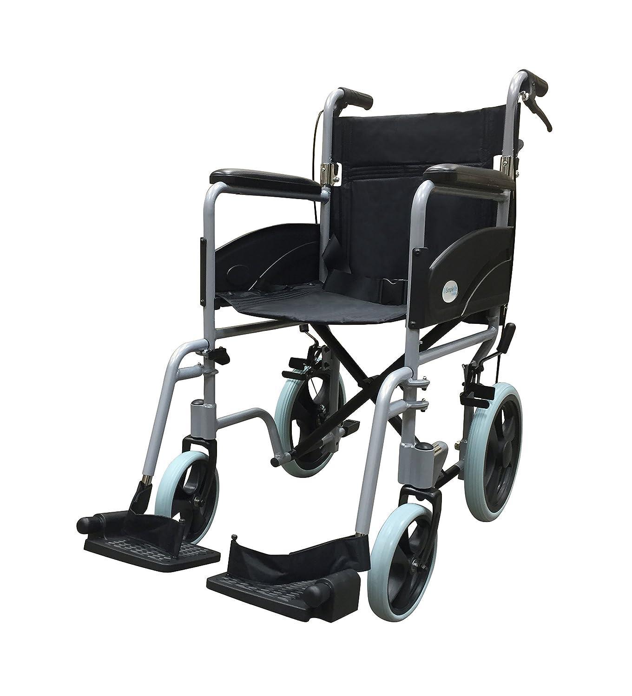 Transport chair amazon - Ultra Lightweight Folding Transit Travel Transport Wheelchair With Handbrakes Amazon Co Uk Health Personal Care