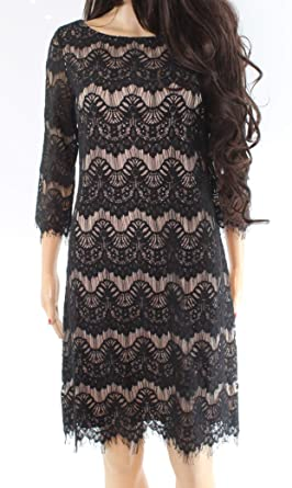 Jessica Howard Women s 3 4 Sleeve Shift Lace Dress at Amazon Women s  Clothing store  859ff679d