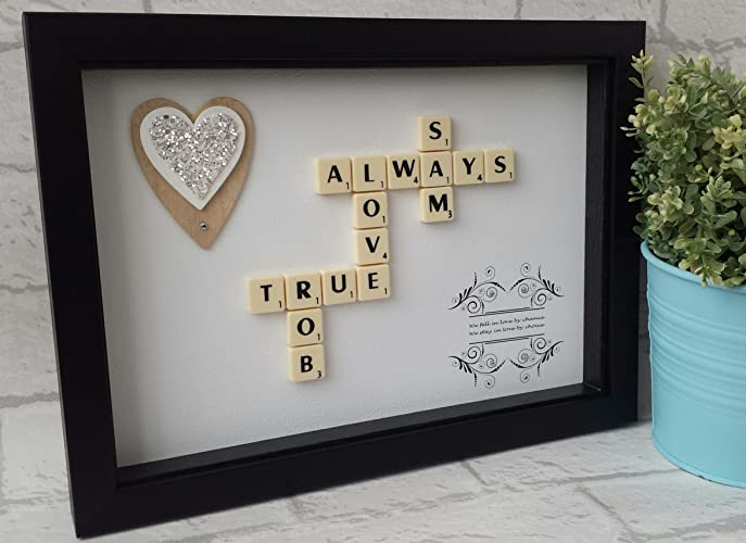 Scrabble Wall Art   Love Theme   Scrabble Frame   Scrabble Word Gift    Scrabble Picture