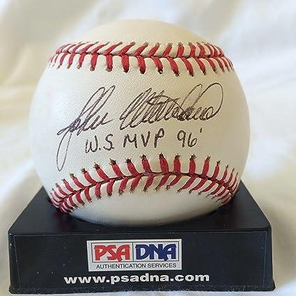 25a76198186 John Wetteland quot w.s Mvp 96 quot  Signed 1996 World Series Baseball   v71533 - PSA