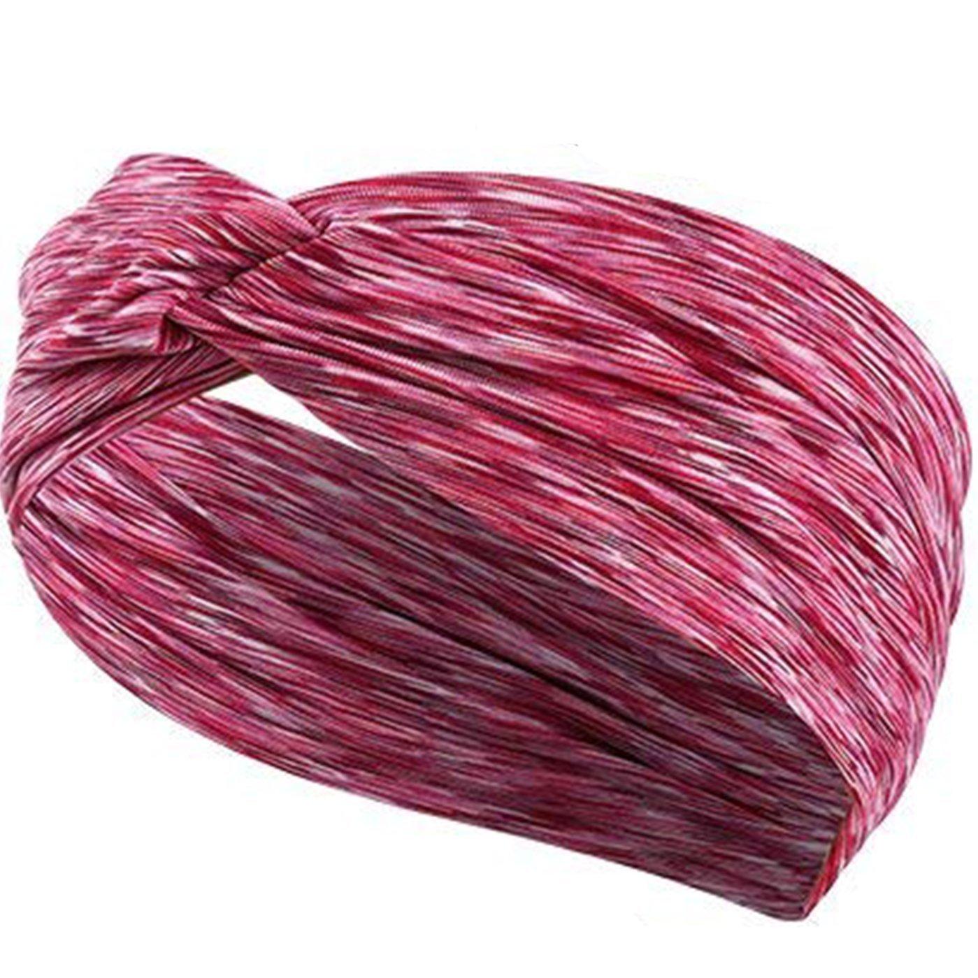 KelaSip Damen Stirnb/änder Frauen Elastische Stirnband Yoga//Spa Haarband Weiche Turban-Kopf-Verpackungs Sport Kopftuch