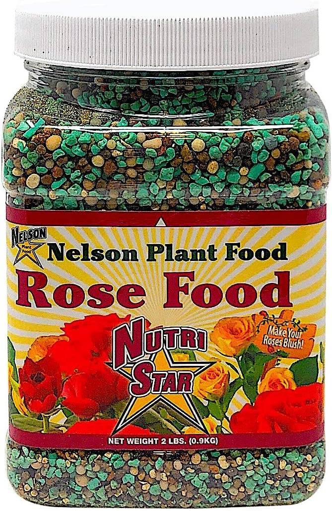 Nelson Plant Food Rose Food for All Types of Roses Climbing Tea Knock Outs Grandiflora with Five Sources of Nitrogen Nutri Star 18-14-10 (2 LB)