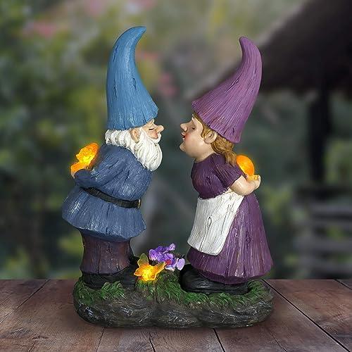 Exhart Gardening Gifts Garden Gnomes Kissing Statue