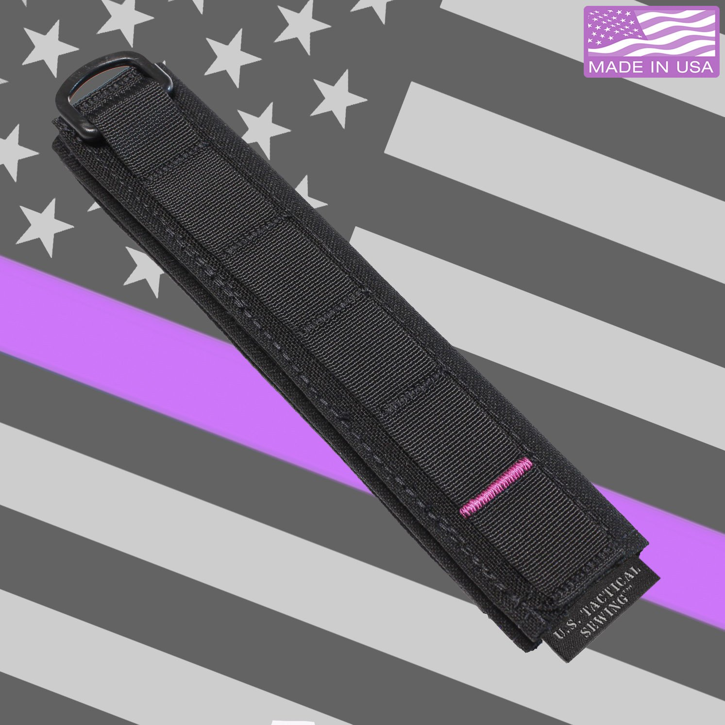 U.S. Tactical Sewing USTS Advanced Modular Headset Cover - Made in The USA (Black w/Pink Accent) by U.S. Tactical Sewing