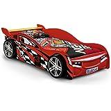 Julian Bowen Scorpion Racer Single Bed, Red