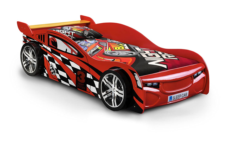 Car beds for boys - Julian Bowen Scorpion Racer Single Bed Red