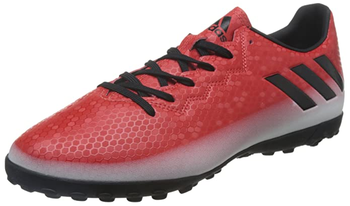 Amazon.com: adidas Messi 16.4 Turf Football Boots - Adult - Red/Core Black/Footwear White - UK Shoe Size 10: Sports & Outdoors