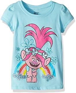 05a6609de Amazon.com: Trolls Girls' Little Girls' Movie Life Short Sleeve T ...