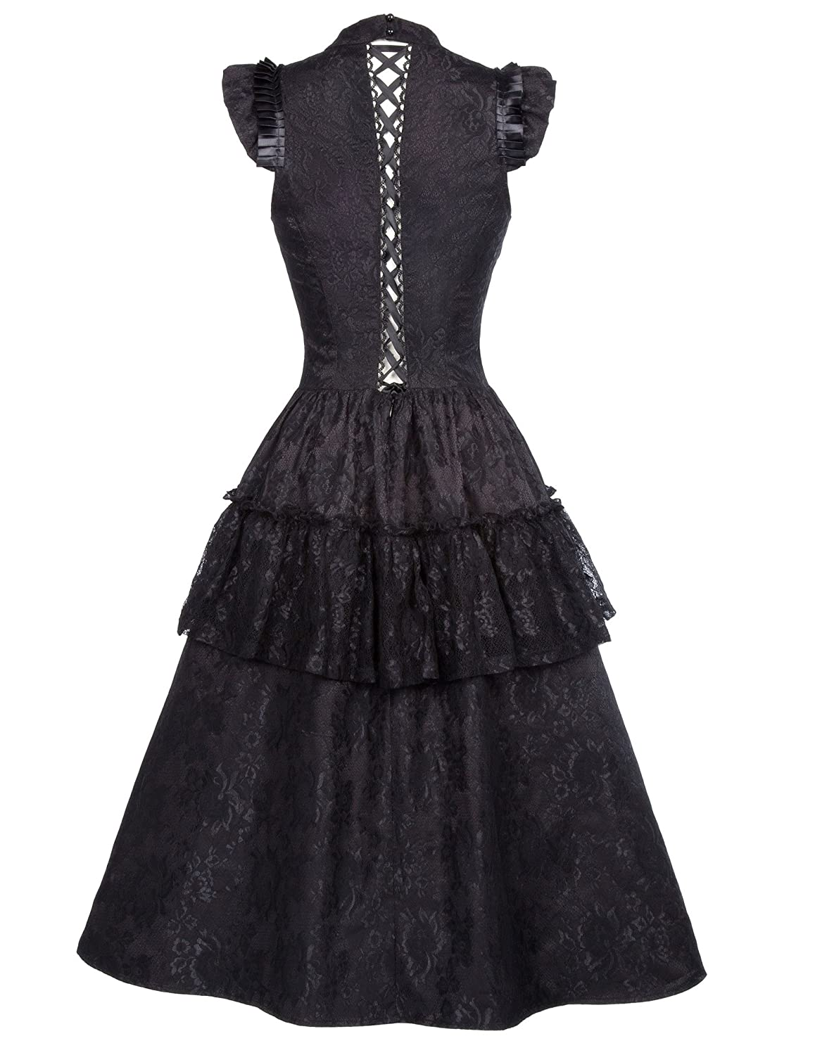 Amazon.com: Belle Poque Steampunk Victorian Gothic Lace Swing Dress ...