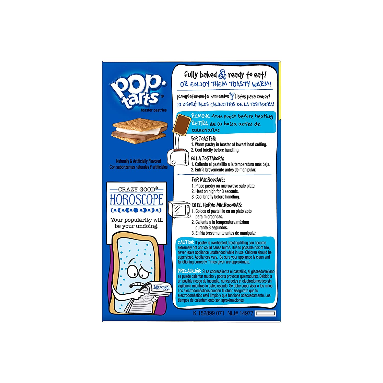 Pop-Tarts Breakfast Toaster Pastries, Frosted Smores Flavored, Bulk Size, 96 Count (Pack of 8, 29.3 oz Boxes)