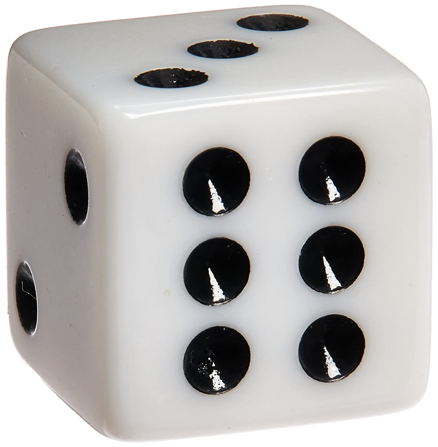 100 White Dice - 16mm by Marion Amusing Toys 00131000819