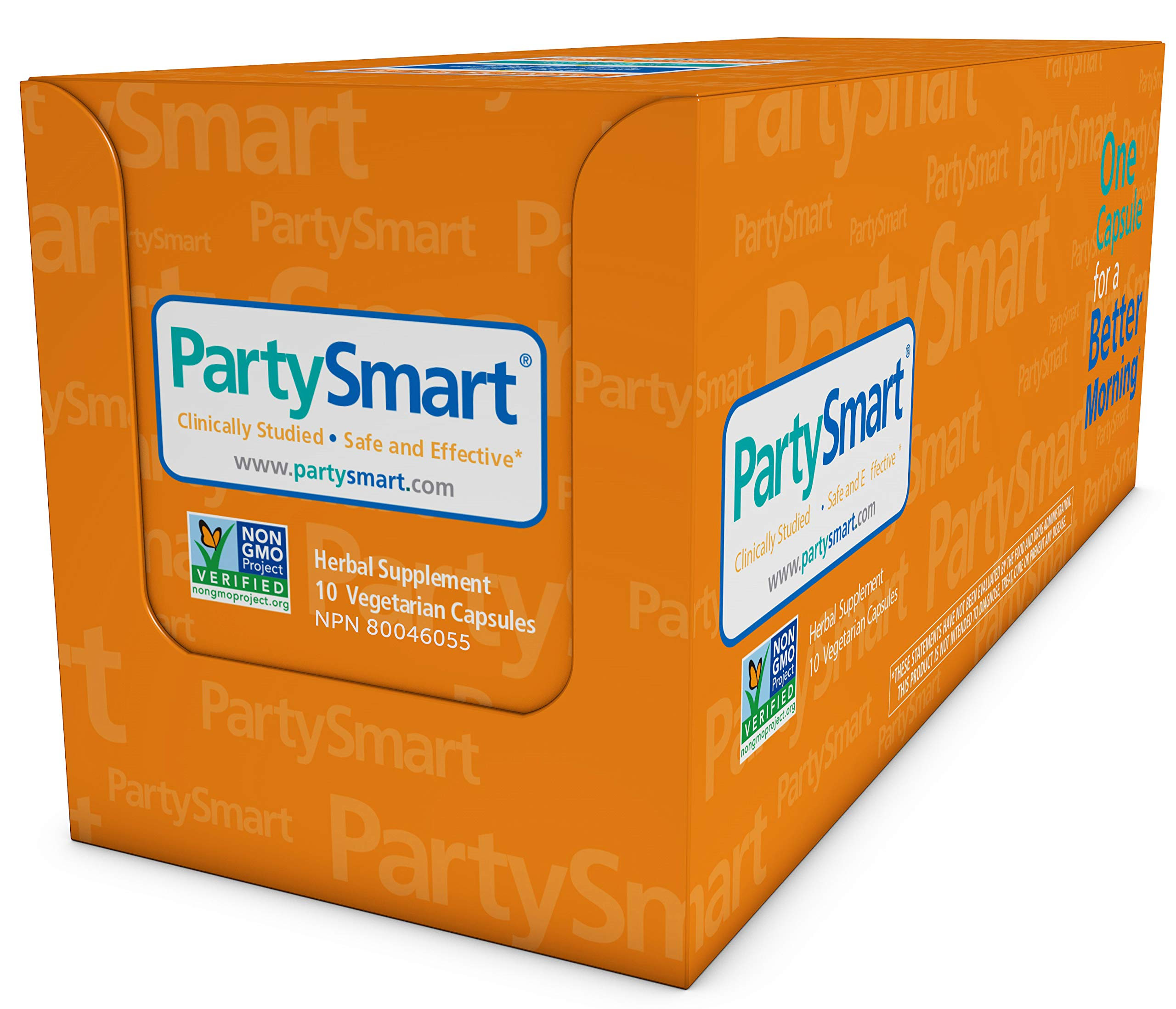 Himalaya PartySmart for Hangover Prevention, Alcohol Metabolism and a Better Morning After, 10 Capsules 250mg (1 Pack) by Himalaya Herbal Healthcare