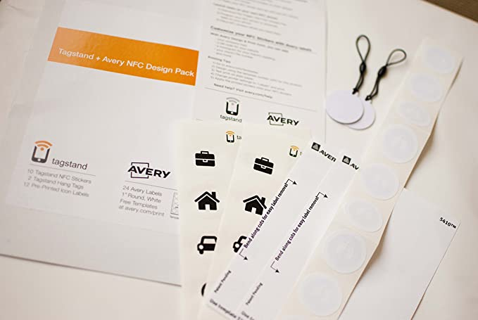 amazon com tagstand avery nfc customization design pack includes