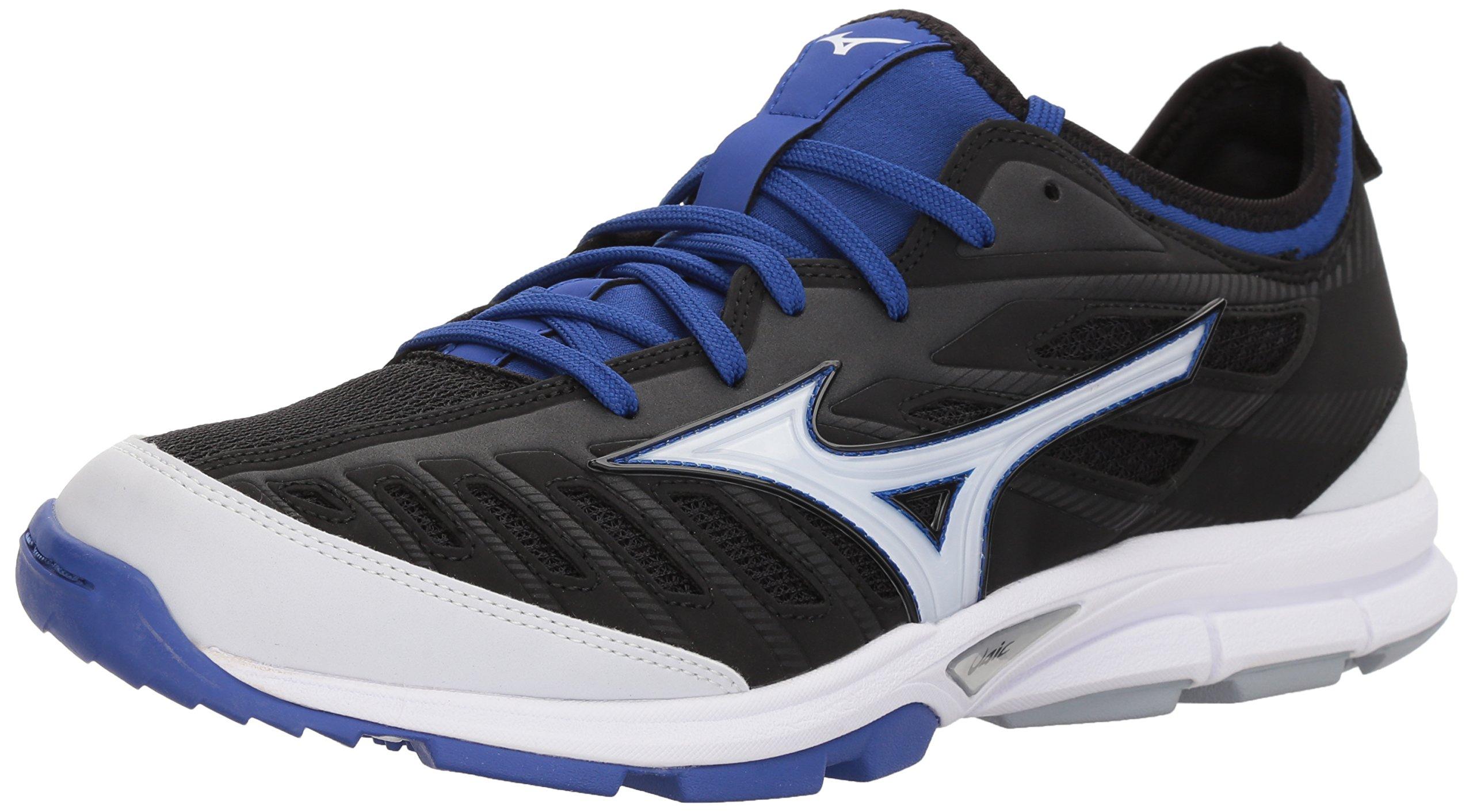 Mizuno Men's Players Trainer 2 Turf Baseball-Shoes,Black/Royal,11 D US by Mizuno
