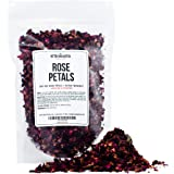 Dry Rose Petals, Red and Fragrant for Tea, Baking, Crafts, Sachets, Baths, Aromatherapy, Oil Infusions, Tinctures - 4oz in Re