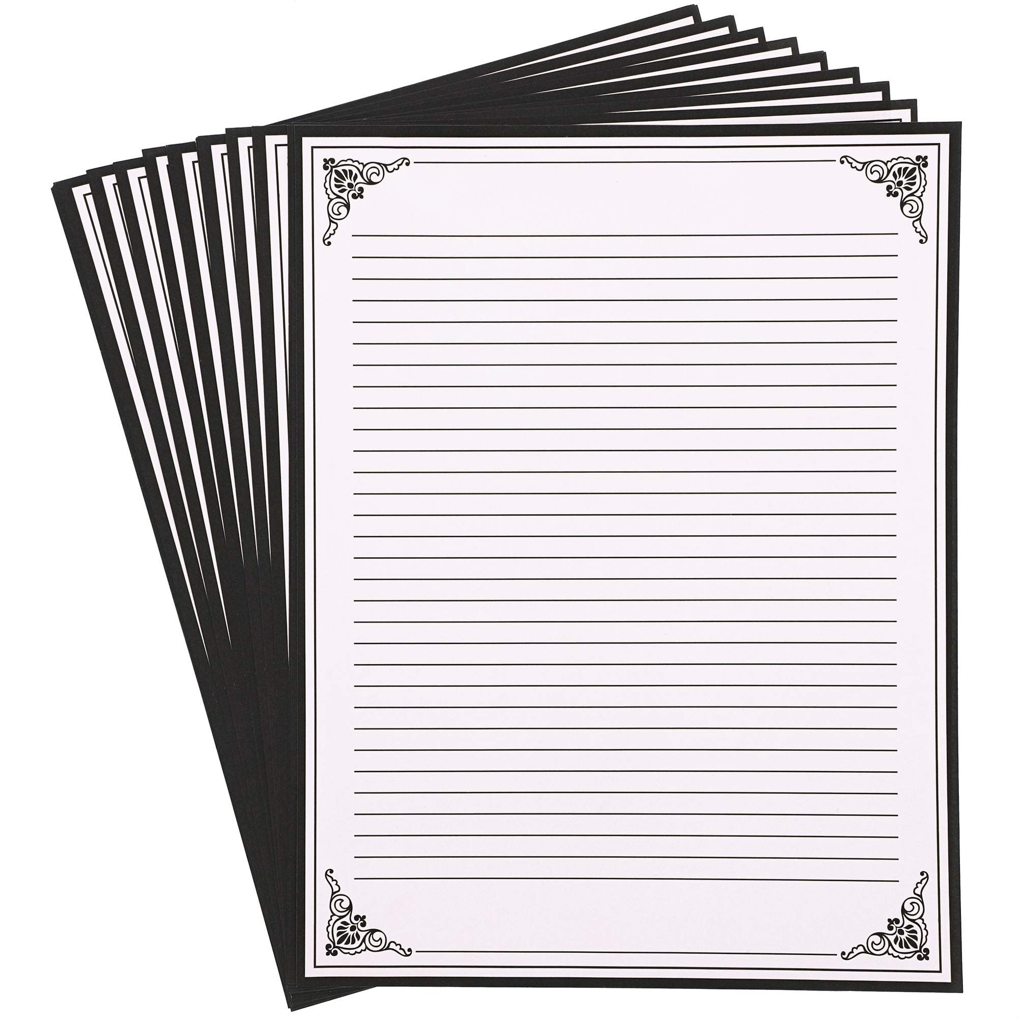 Juvale Vintage Stationery Paper, Lined (96 Sheets) 8.5 x 11 Inches, Cream by Juvale