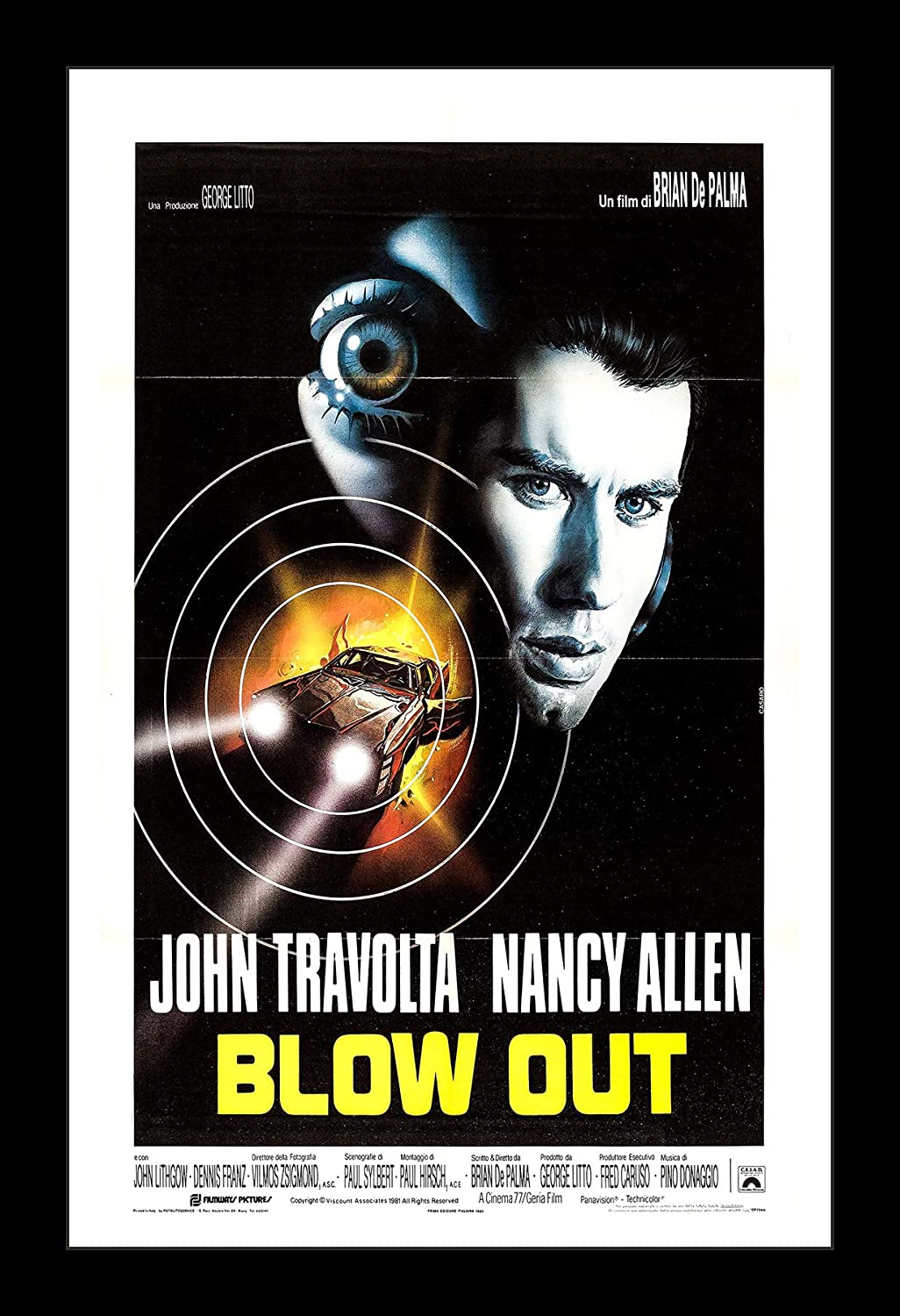 Wallspace 11x17 Framed Movie Poster - Blow Out