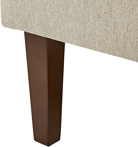 Stone Beam Lummi Modern Armless Living Room Accent Chair, 21.6 W, Shell