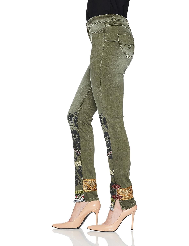 Desigual Pant_Harry, Pantalon Femme, (Burnt Olive 6100), 34