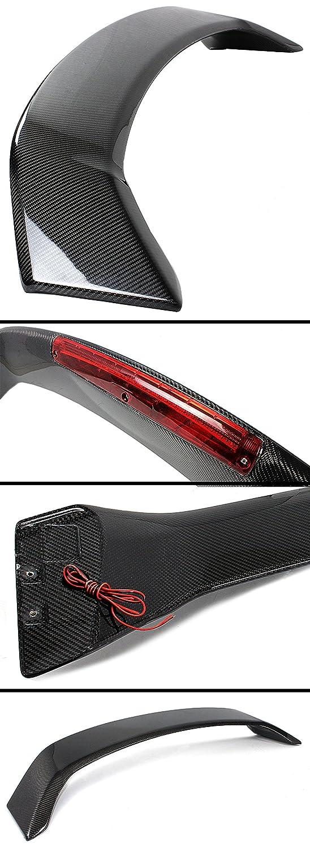 Cuztom Tuning Fits for 2013-2015 9TH GEN Honda Civic Sedan Si Style Carbon Fiber LED Trunk Spoiler Wing