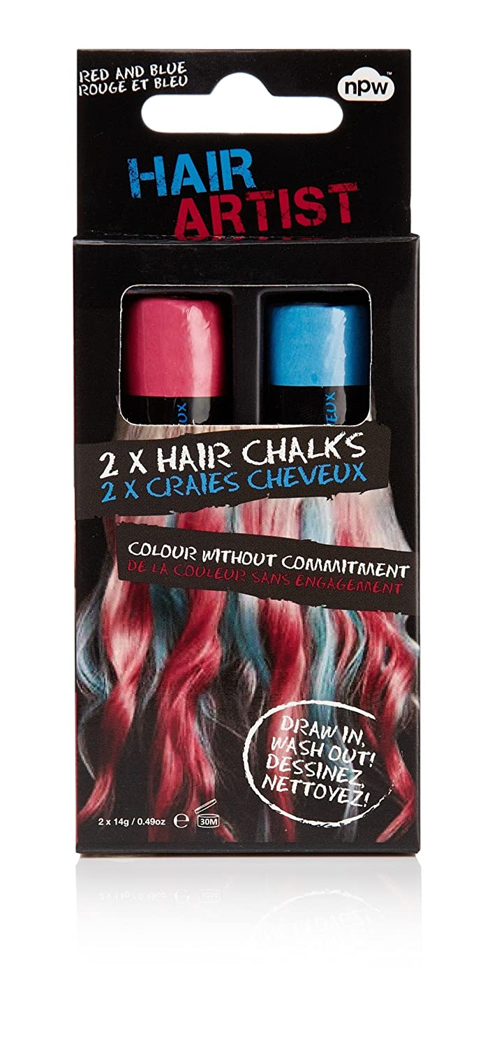 Hair Chalk Bluered Temporary Hair Colour Wash Out Colours