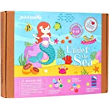 Under the Sea Themed Craft Kit | Includes Beautiful Felt Mermaid Sewing Kit | 3 Different Crafts-in-1 | Best Gift for Girls Ages 6 to 10 years (3-in-1)