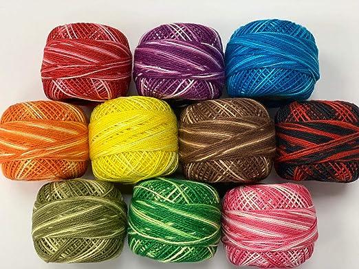 Oasis - 10 ovillos variados de algodón para crochet: Amazon.es: Hogar