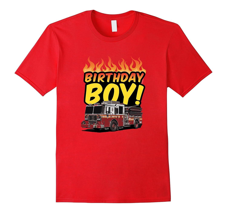 BIRTHDAY BOY FIREMAN TSHIRT for big kids boys and men-TJ