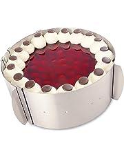 Tortenring verstellbar aus Edelstahl mit Skalierung – Backring verstellbar Made in Germany – mit dem variablen Kuchenring gelingen kleine und große Kuchen und Torten mit Leichtigkeit