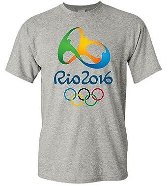 788673f7f655d Brazil Rio 2016 Olympic Games Logo T-Shirt Grey