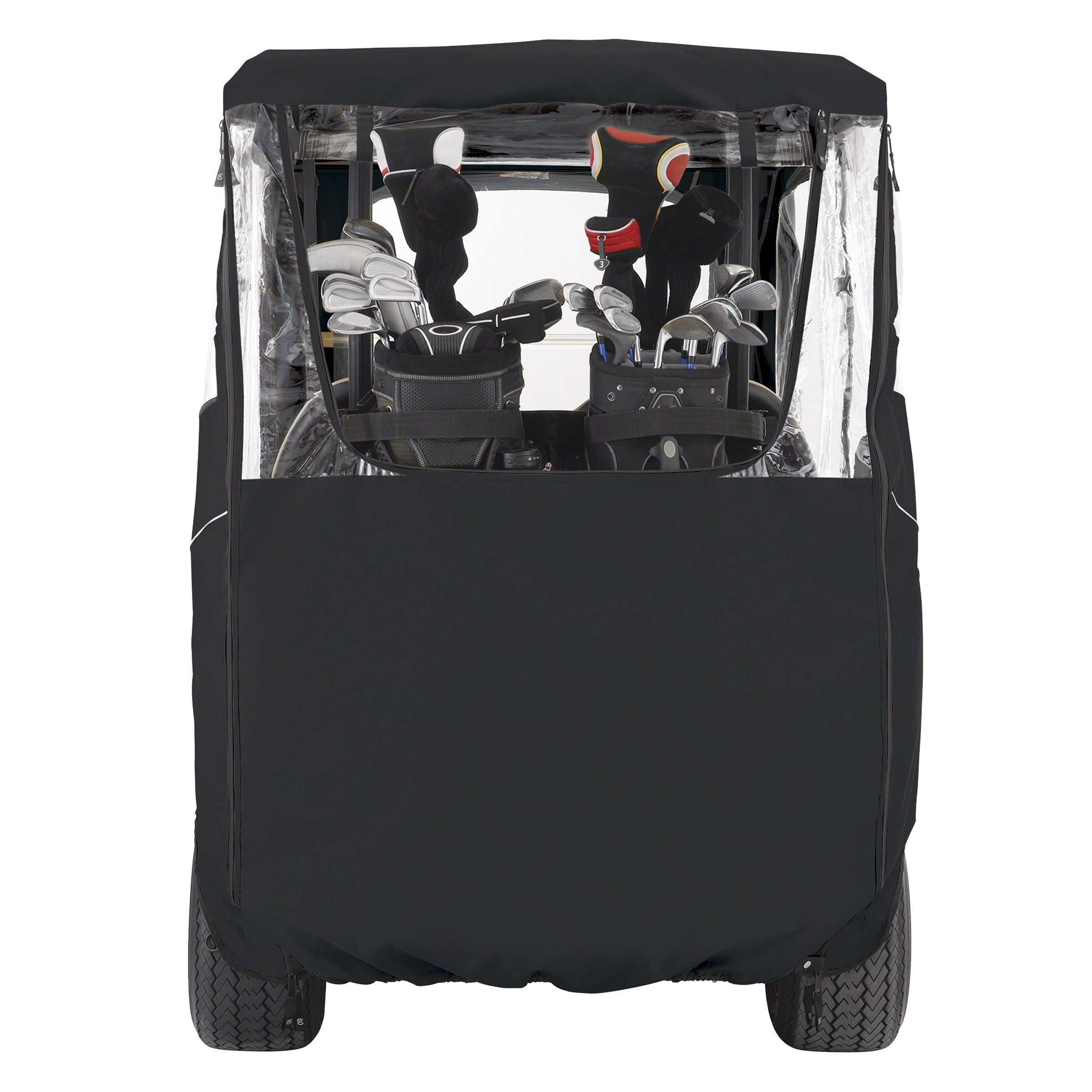 Classic Accessories Fairway Golf Cart Deluxe Enclosure, Black, Short Roof by Classic Accessories (Image #7)